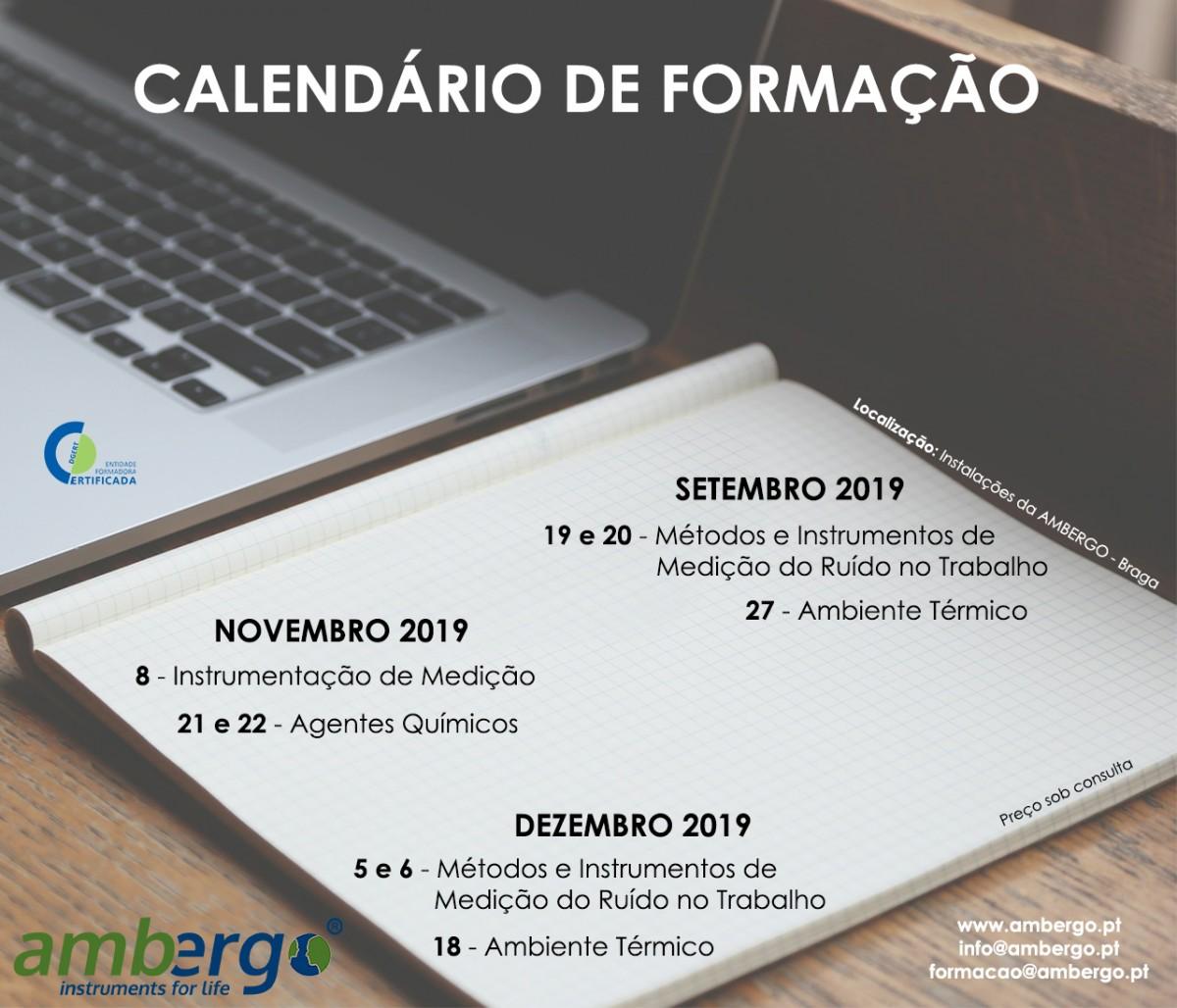 Formação Setembro, Novembro, Dezembro 2019